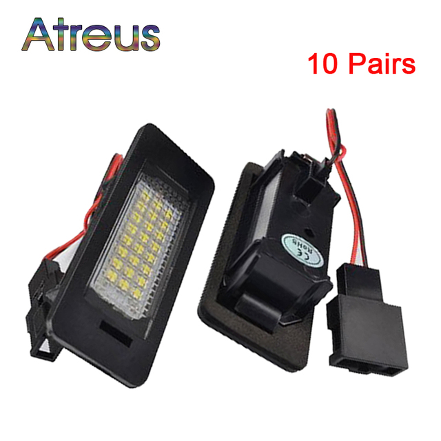 Atreus 10Pairs Car LED License Plate Light 12V Number Plate L& For Audi A4 b8 A5  sc 1 st  AliExpress.com & Atreus 10Pairs Car LED License Plate Light 12V Number Plate Lamp For ...