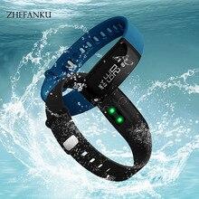 ZHEFANKU Smart Wristwatch Men Women Waterproof Pedometer Sleep Heart Rate Monitor Sports Watch Smart Call Reminder LED Watch
