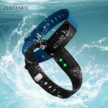 ZHEFANKU Smart Wristwatch Men Women Waterproof Pedometer Sleep Heart Rate Monitor Sports Watch Smart Call Reminder LED Watch