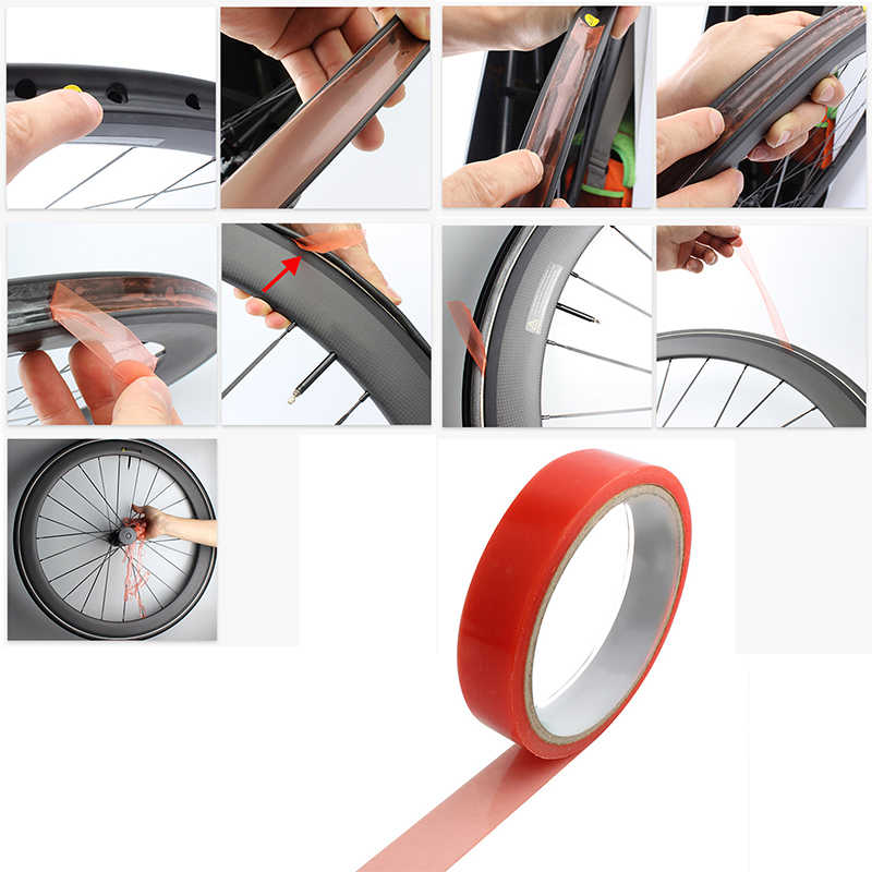 Cycling Double sided Tape Adhesive MTB Seal Wheel Gear Bicycle Carbon Tubular
