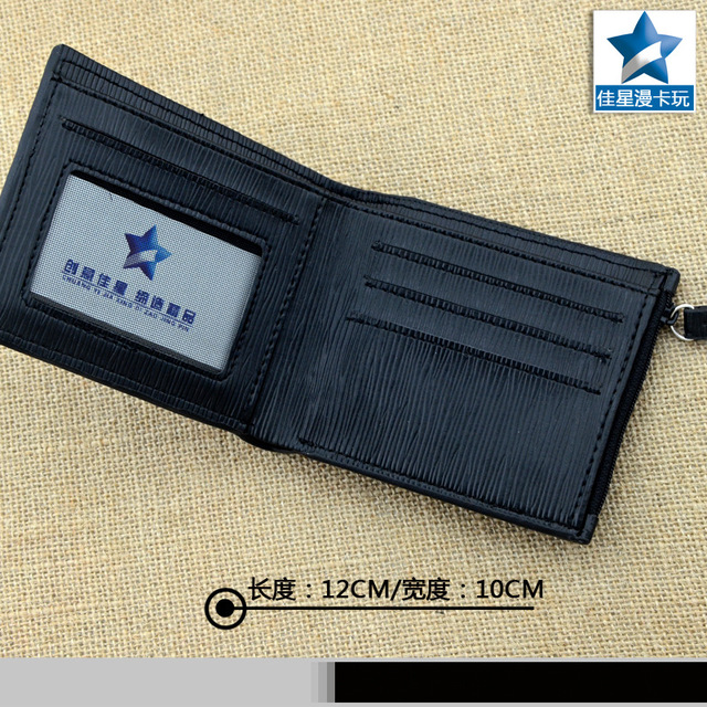 Short Wallet With Metal Badge of Hidden Leaf Village