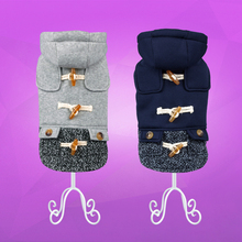 Cute, stylish hooded yorkie wool coat