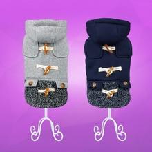 Cute, stylish hooded yorkie wool coat