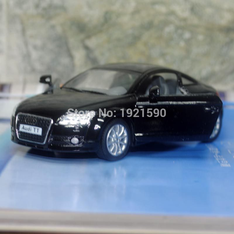 5pcs/pack Wholesale KT 1/32 Scale Pull Back Car Model Toys Germany 2008 Audi TT Diecast Metal Car Toy