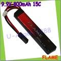 1 шт. 100% первоначально пламя 9.9 В 800 mAh 15C LiFePO4 при аккумулятор FLAME-POF4-03 AEG Airsoft аккумулятор M3E08