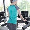 Женская Футболка Quick Dry футболка camisetas mujer футболка femme Фитнес женщины топы С Коротким Рукавом футболка