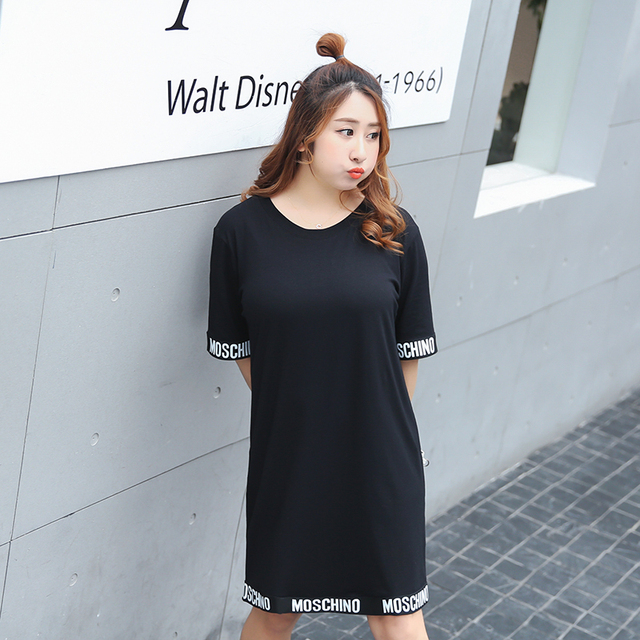 New fashion summer style letters printed long sleeved women's casual dress women vestidos 946