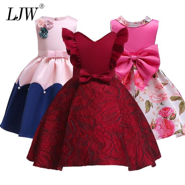 חדש אופנה חג המולד נסיכת של בנות שמלות קבלה Formagirls בגדי כדור שמלת עבור שמלת ילדה באורך הברך סגנון 2-12year