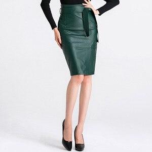 Image 3 - 3XL 4XL Pu Lederen Rok Vrouwen Plus Size Herfst Winter Sexy Hoge Taille Faux Leather Rokken Womens Belted Mode Potlood rok