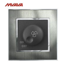цена на MVAVA Ceiling Fan Dimmer 110-250V Speed Control Wall Turn ON/OFF Rotate Switch Brushed Metal UK/EU Standard Free Shipping
