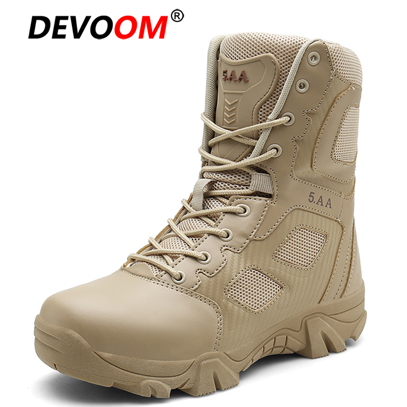 New Winter Soldier Army Boots Men Outdoor Shoes Trekking Hiking Shoes Men Boots Tactical Quality Leather
