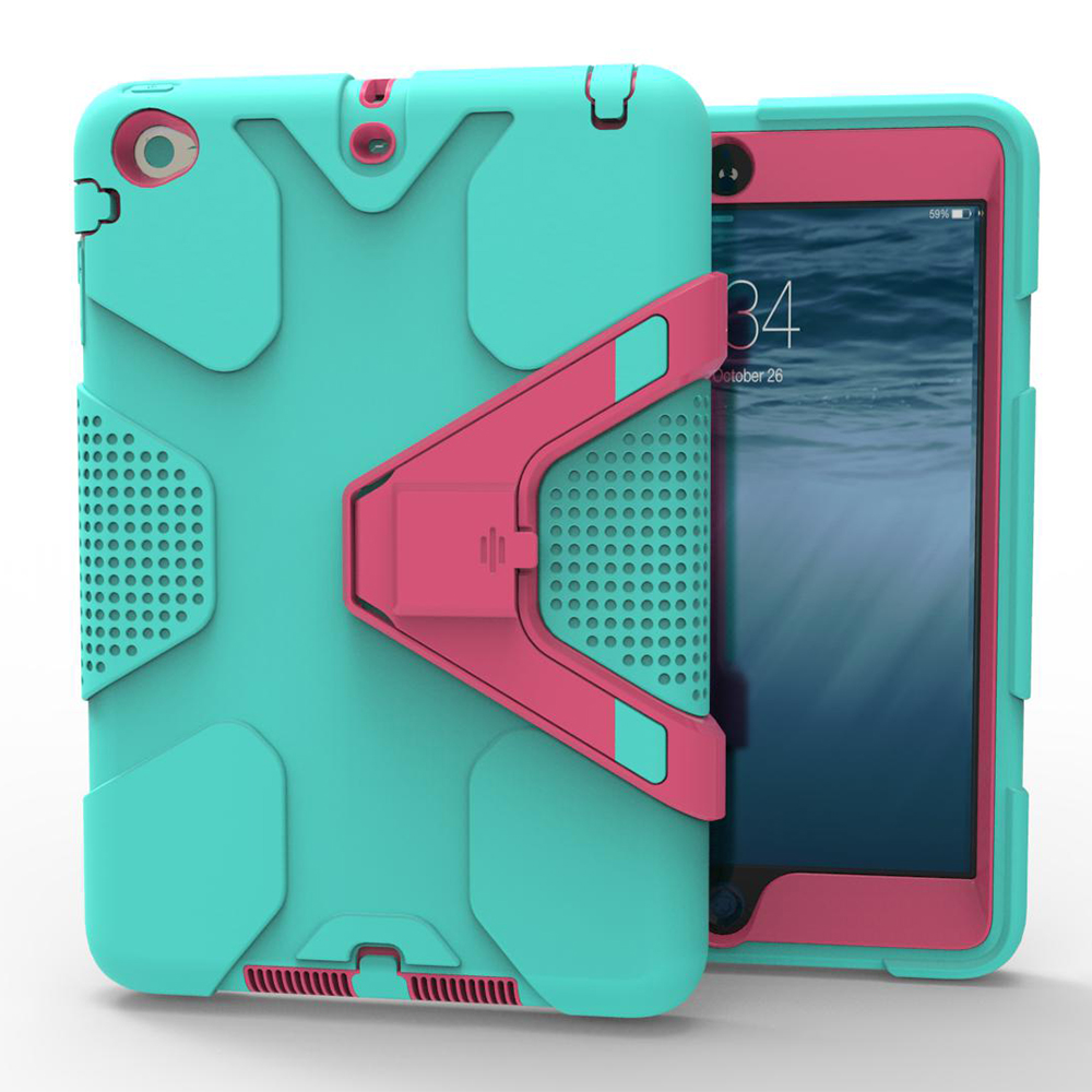 Stand Case For Ipad Pro 9.7 Inch EVA Heavy Duty Shockproof Hybrid Rubber Rugged Hard Protective Skin Safe Shell Cover Case