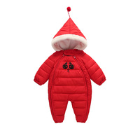 Baby Boy Girl Clothes New Born Winter Hooded Rompers Thick Cotton Outfit Newborn Jumpsuit Children Costume Toddler Romper CA464