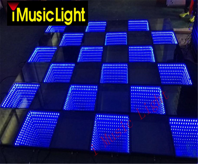 8Pcs/Lot High Mirror  Dance Floor 3D Abyss Effect SMD 5050 RGB 3in1 Decoration Wedding DJ Disco Party LED Dance Floor