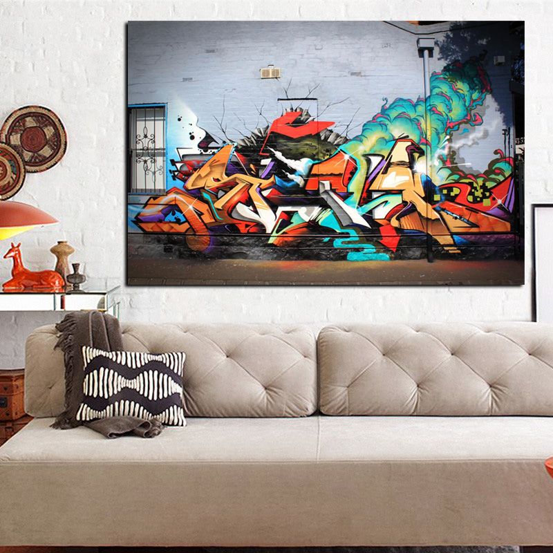 HD Stampa Street Art Volcanic Explosion Graffiti Astratto Pop Art - Home decor