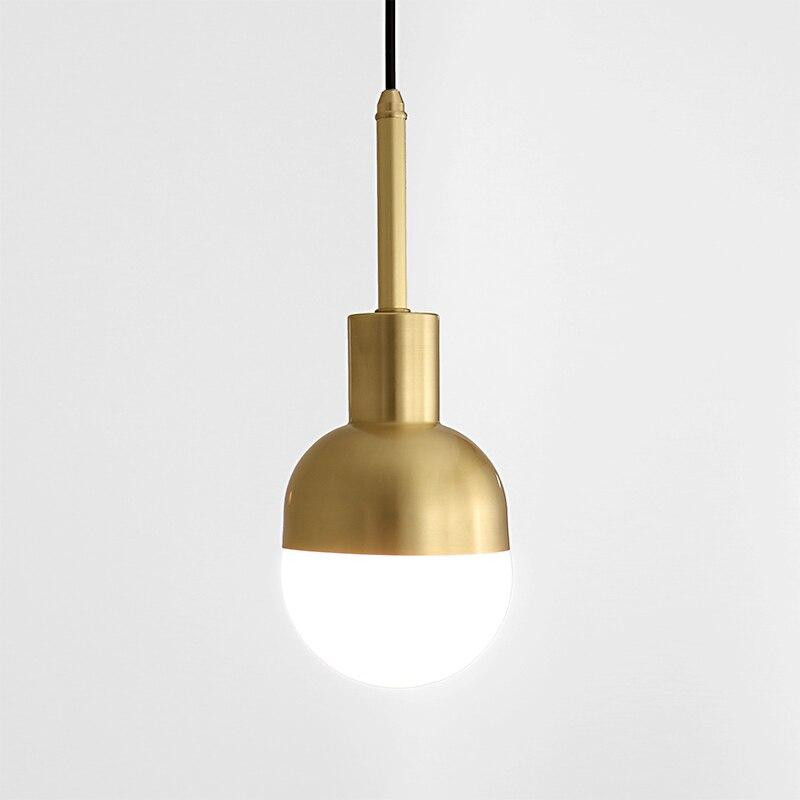 Messing enkele head restaurant verlichting, bar gangen, Nordic retro nostalgie slaapkamer nachtkastje hanglamp LED licht fixtue