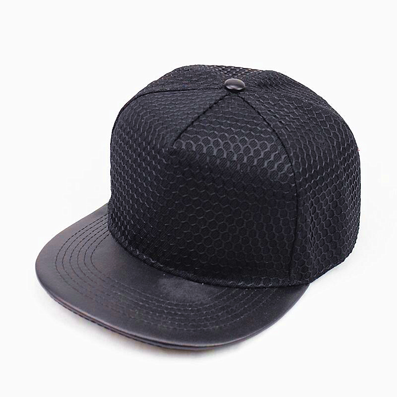 2017 NEW popular good quality snap back baseball cap men fashion women hat flat PU brim hip hop snapback cap 5 colors