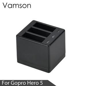 Image 4 - Vamson Three Ports Battery Charger Battery Charging Dock For GoPro 8 7 5 6 for Go Pro Hero 8 7 6 5 Black
