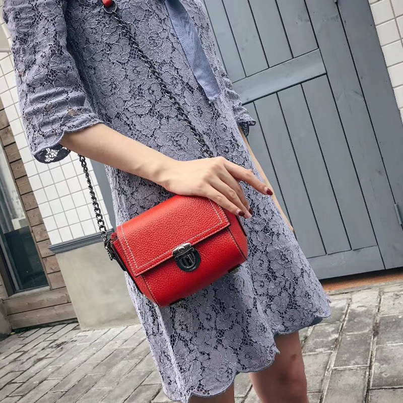 High Quality Top Layer Cowhide Leather Flap Bags Famous Brand Women Leather Handbags Popular Brand Designer Chain Shoulder Bags