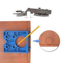 35mm Hinge Jig ABS Plastic Hinge Installation Hole Wood Drill Guide Hinge Woodworking Hole Opener Door Cabinet Accessories Tool handle installation jig woodworking tools
