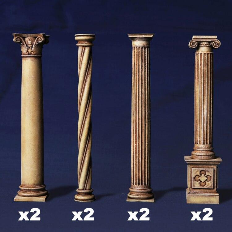 DIY 1/35 Resin Scene European Architecture Accessory Pillar Component Military 06