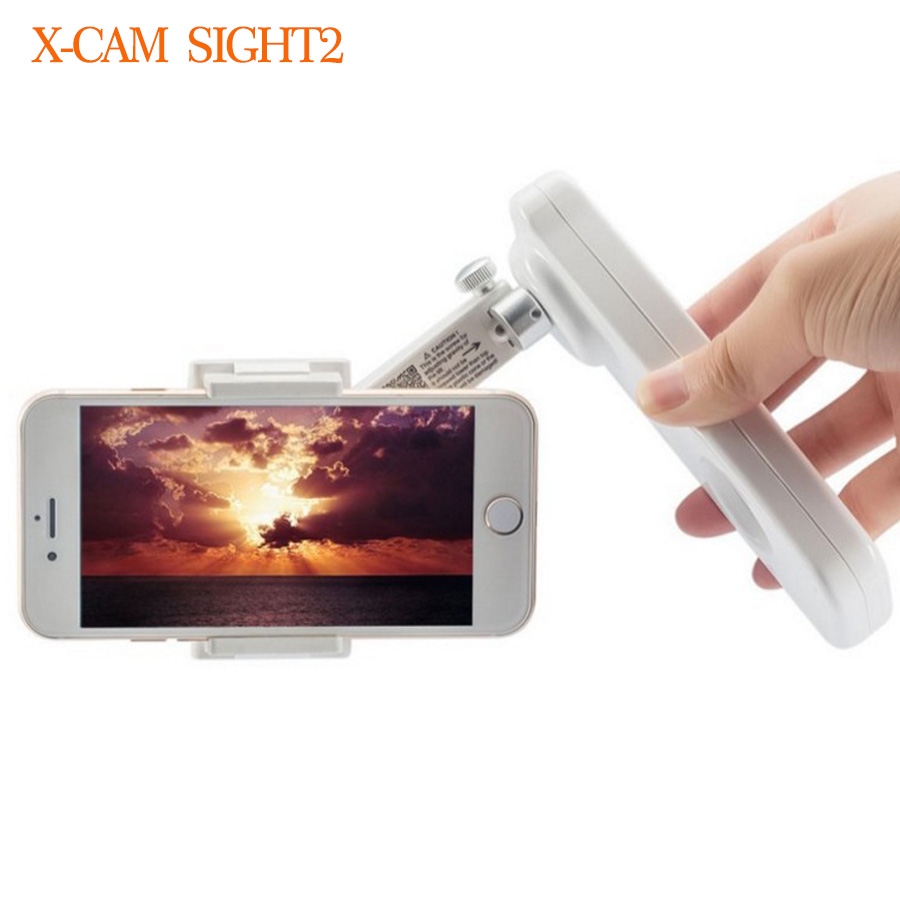 X-Cam Sight 2 Self Selfie Sticks Handheld Gimbal 2-axle Stabilizer Brushless Bluetooth Control for Smartphone Q19360 x cam sight2 2 axis smartphone handheld stabilizer mobile phone brushless gimbal with bluetooth for iphone samsung xiaomi nexus