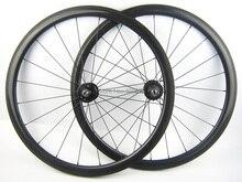 single speed bike wheel carbon fiber bicycle wheel 700C 38mm clincher fixed gear clincher or tubular