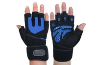 Pro Durable Fitness thicken Sports men durable Gym Gloves mitts Weight lifting Weightlifting with 47 cm wrist protect