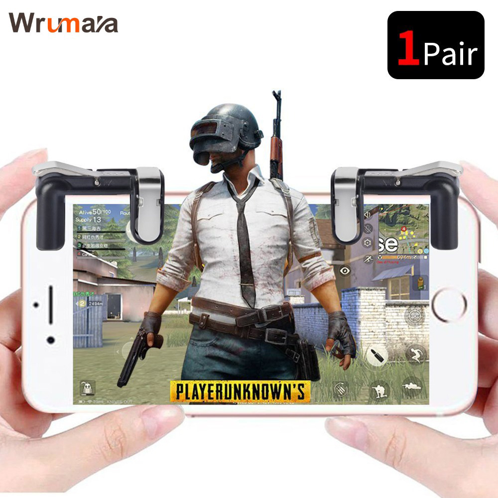 WRUMAVA Mobile Phone Game Fire Button Smart Mobile Phone Gaming Trigger L1 + R1 <font><b>Shooter</b></font> for Knives Out / Survival Rules / PUBG image