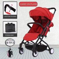 New Babytime Compact Lightweight Baby Stroller Pram Easy Fold Travel Carry on