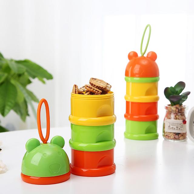 Baby Food Storage Portable Milk Box Snack Container Portable Infant Baby Milk Powder Storage Boxes Dispenser Case Container