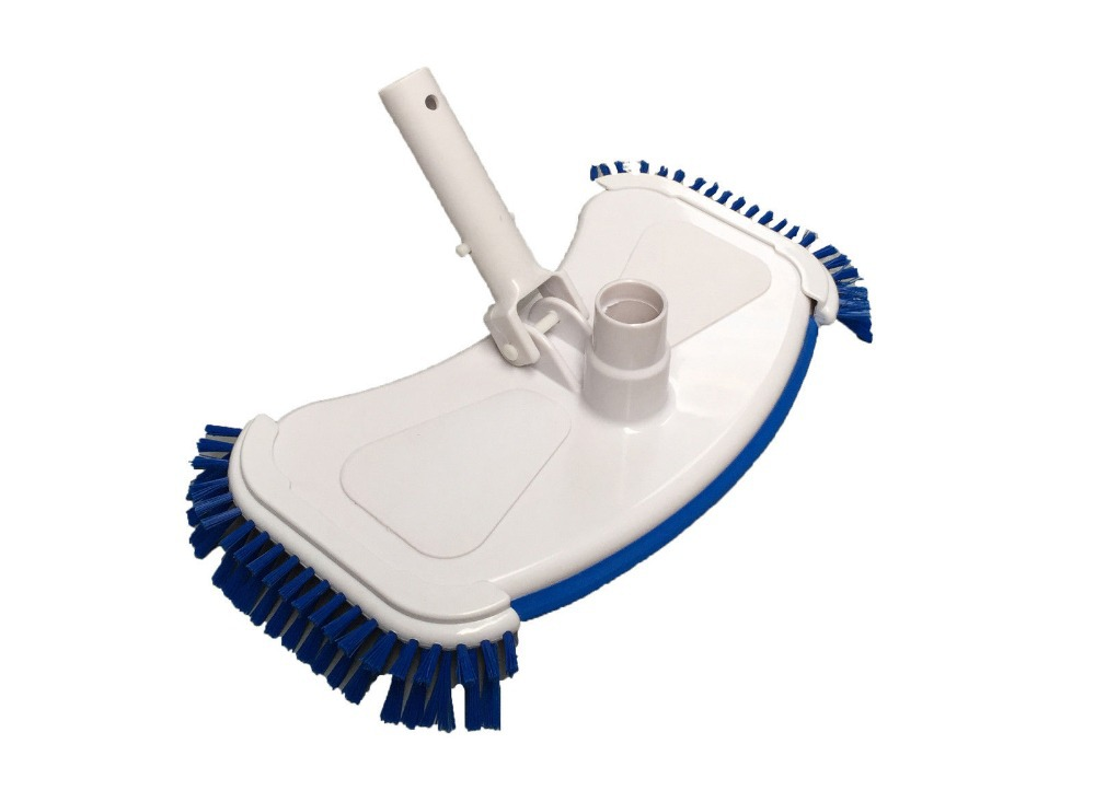 Deluxe Weighted Swimming <font><b>Pool</b></font> <font><b>Vacuum</b></font> Head Cleaner Side Brushes, Koi Fish Pond