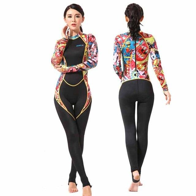 5dfe873fb2f6 € 38.96 |Lycra erupción para las mujeres lancha buceo nadar surf traje de  una pieza nadar ropa de surf de cuerpo traje de baño para mujer en Bodis ...