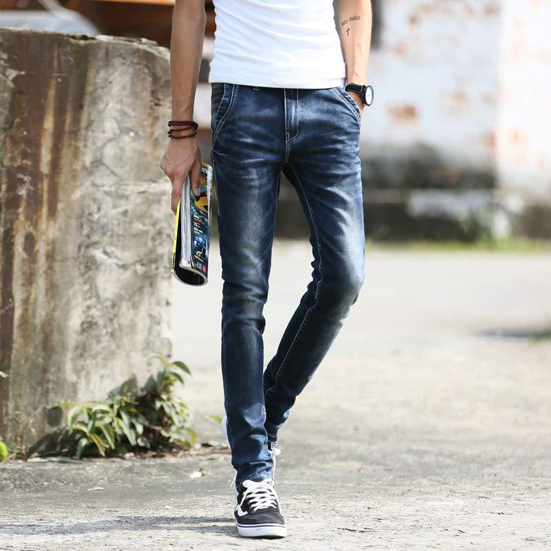 Aliexpress.com : Buy New 2015 fashion elastic ripped jeans for men