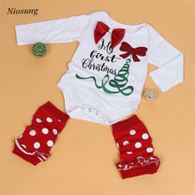 Niosung Newborn Kids Baby Boy Girl Infant Romper Cute Christmas Jumpsuit Jumpsuit Leggings Clothes Christmas Set Christmas Set