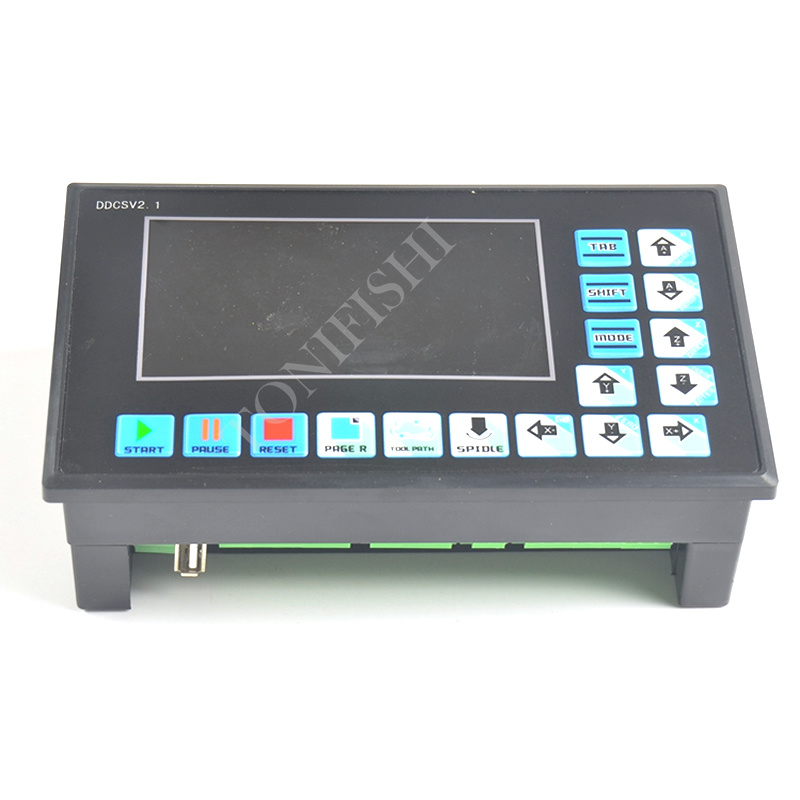 New DDCSV2 1 CNC system U disk read G code engraving machine controller motion 4 axis