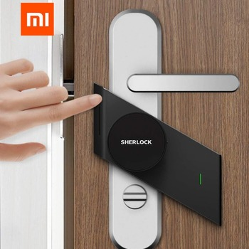 Xiaomi Sherlock Smart Home Door Lock M1 mijia Keyless Fingerprint+Password Securite Porte work to Mi home app phone control