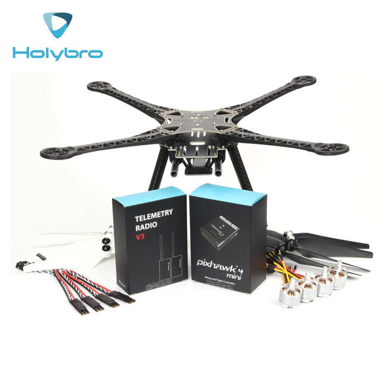 Holybro Pixhawk 4 Mini S500 Kit 480mm de distancia entre ejes RC Quadcopter FPV Racing Drone W/Pixhawk 4 Mini piloto automático