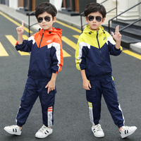 Boutique Kids Clothing Boy Clothes Set Children Fall Autumn Outfits Toddler Tracksuit Windbreaker + Pants 3 to 14 Years