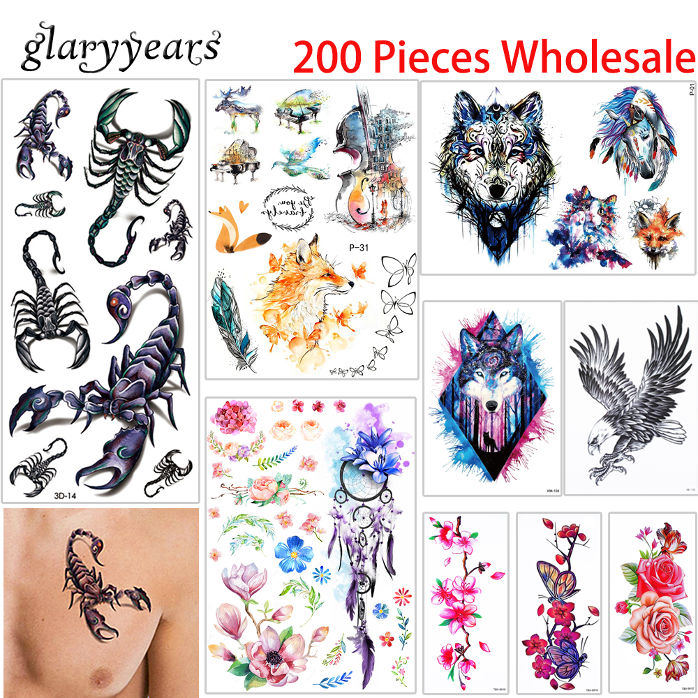 200 pieces wholesale temporary tattoo modern style for Wholesale temporary tattoos