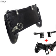 For PUBG for Fortnite Controller Cell Cellphone Gaming Joystick Deal with Bracket Holder + Hearth Button Intention Key Shooter Gamepads