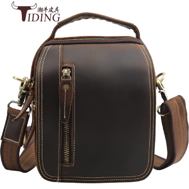 Travel Crossbody Bags Genuine Leather Men Designer Tote Beach Casual Brand Shoulder Small Bag Business Mini Bag  dropshipping