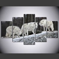 Limited No Spray Painting Framed Art Fallout HD Modular Picture Wolf Animal Paintings Canvas Wall Art