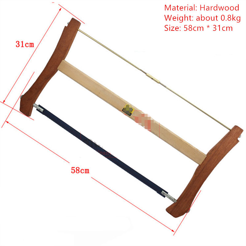 L58cm High quality Bow saw Frame saw Hand saw Woodworking Saws saw tool W080