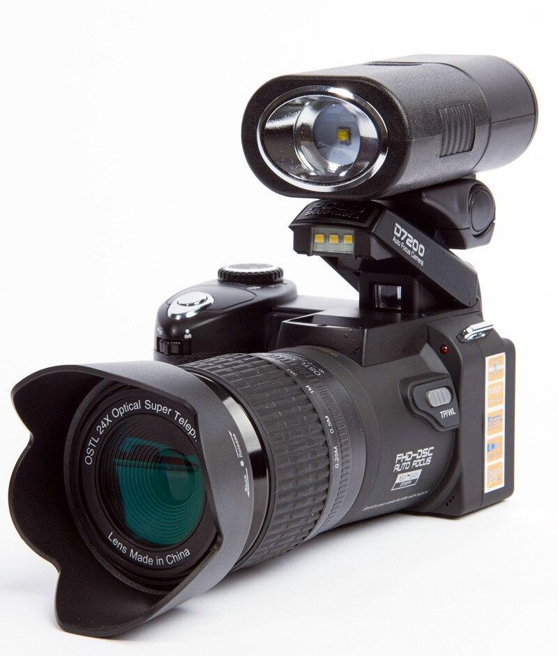 업그레이드 된 전문 protax polo slr d7200 13 메가 픽셀 hd 디지털 카메라 (교환 가능 렌즈 포함)