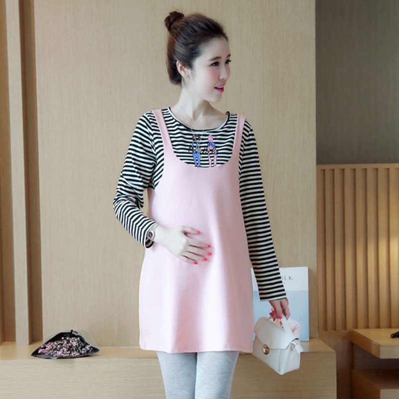 Summer New Maternity Blouses Women Breast feeding Tops stripe Skirts Clothes For Pregnant women pregnancy clothing