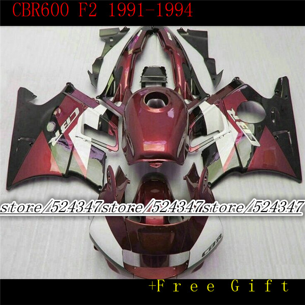 fairing bodywork for red white 91 92 93 94 CBR 600 F2 CBR600 F2 1992 1993 1991 1994 CBR600 for Honda-Hey