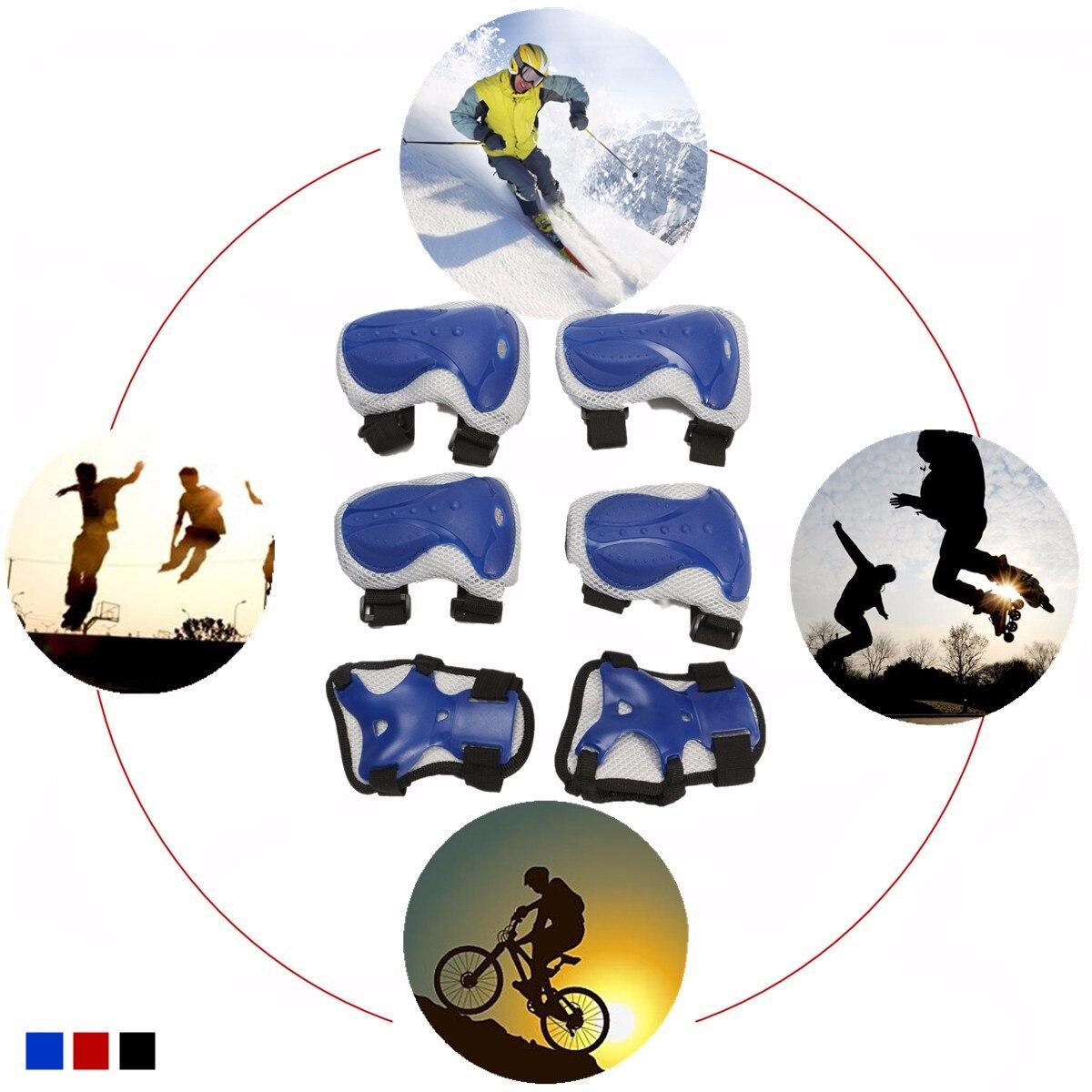 6 шт./компл. взрослый спортивный набор безопасности Защита для коленей и локтей защитные наколенники; защита для скутера Велоспорт Катание на роликах