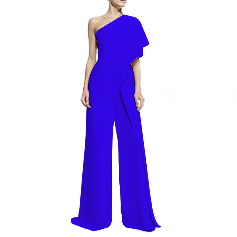 ... 6 Colors Formal Jumpsuits Romper Women Overall Sexy One Shoulder  Bodycon Tunic Jumpsuit Party Femme 2018 270d4d5415df