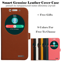 Hot For Sony Xperia C4 E5333 E5303 E5306 High Quality Genuine Leather Luxury Smart Cover Case